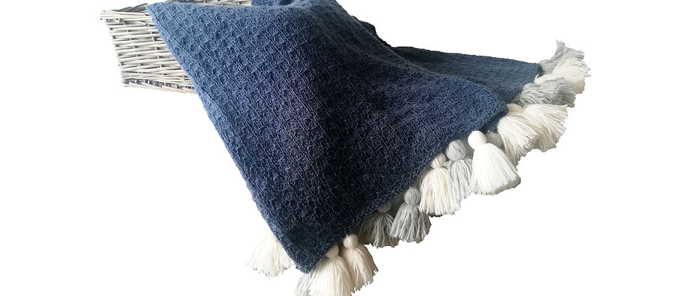 Blue Jean Throw Blanket
