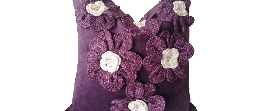 Purple Flowers Pillow Covers
