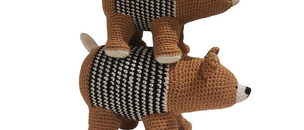 Crochet Amigurumi Bears (Brown)