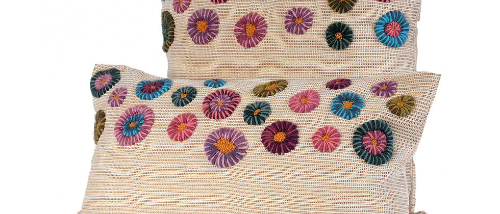 alpaca wool hand embroidery pillow