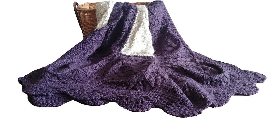 luxury baby alpaca hand knit blanket