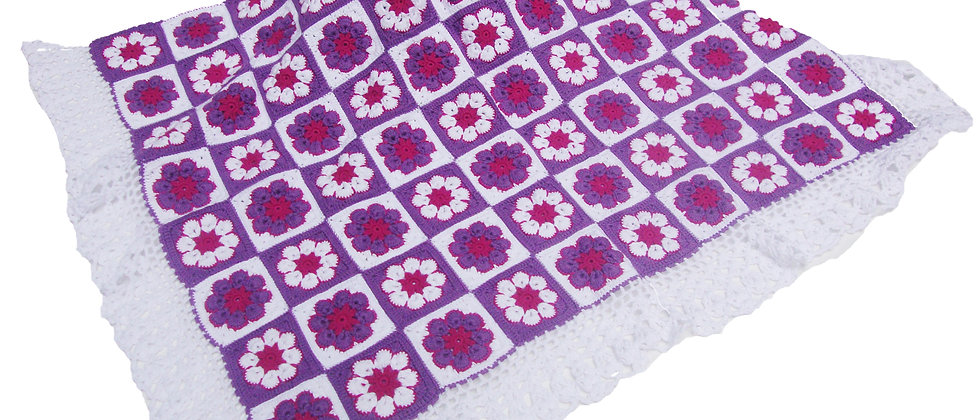 Cotton Crochet Crib Blanket