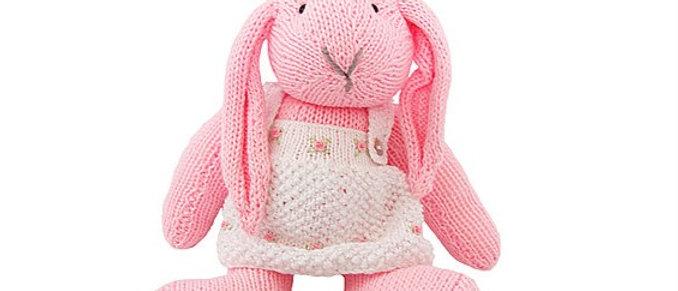 amigurumi rabbit handmade knitted peruvian cotton