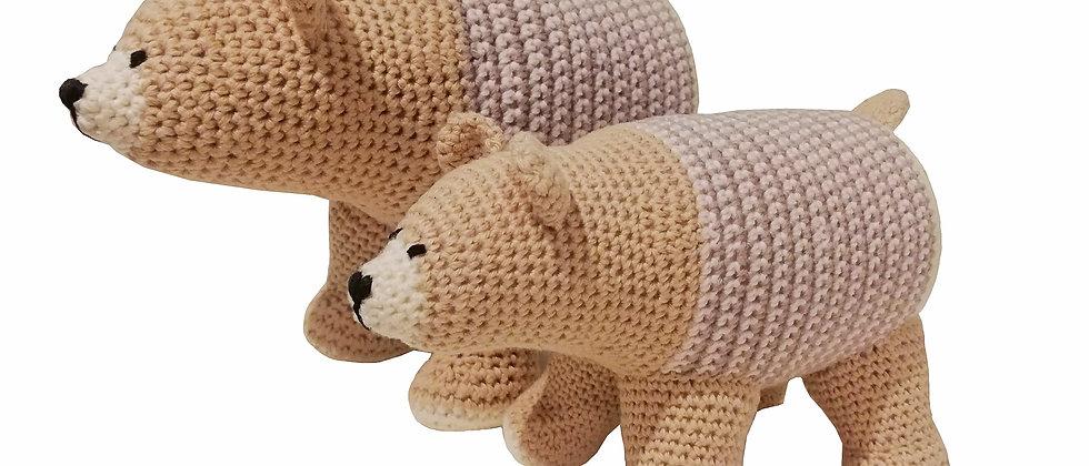 Crochet amigurumis knitted toy peruvian cotton