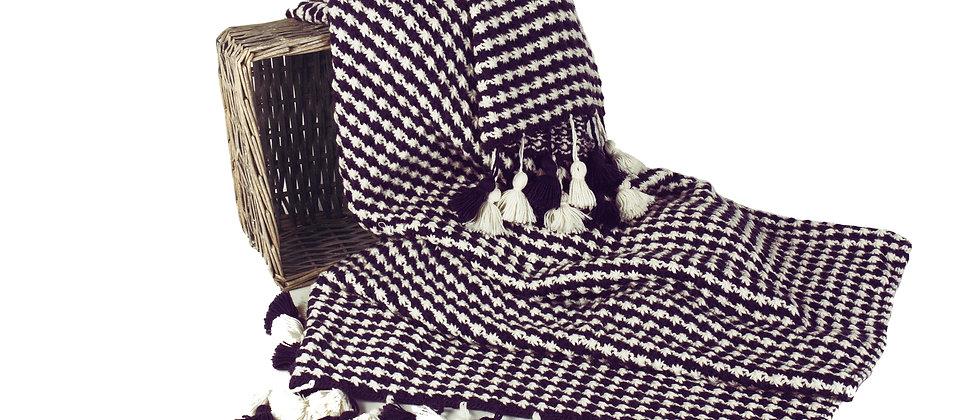 hand knit alpaca throw
