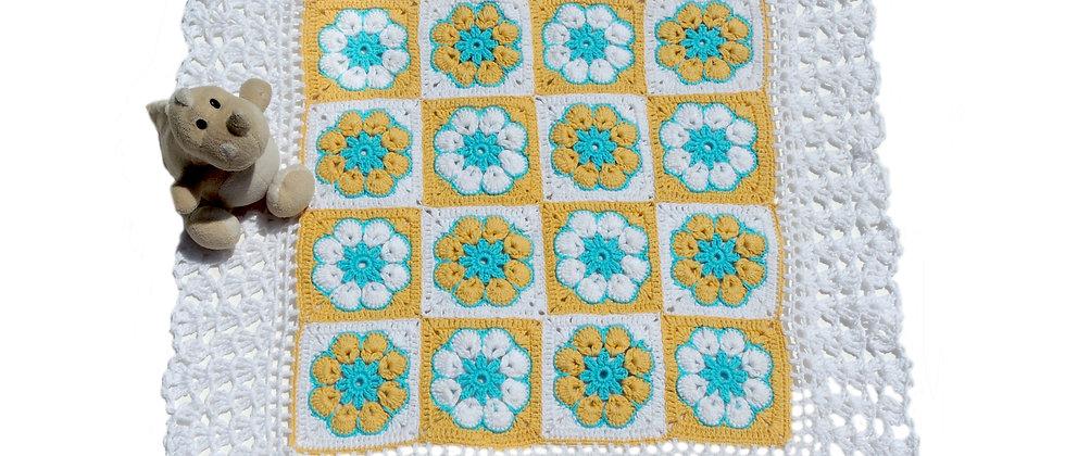 hand knit crochet cotton pillow