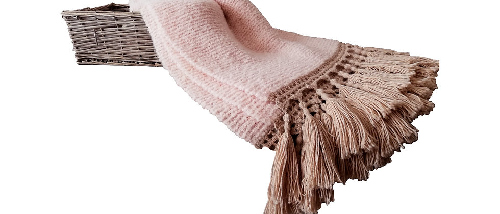 Cozy Alpaca Rose Throw