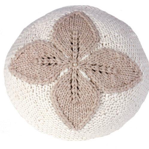 Almohada redonda de alpaca hecha a mano