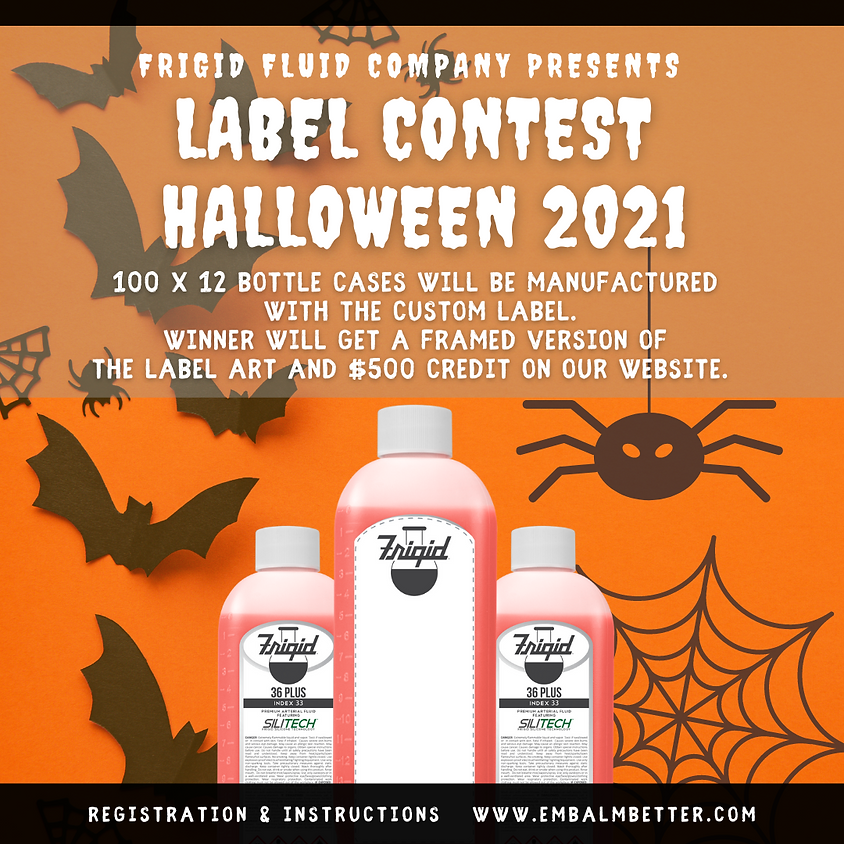 Frigid Label Contest Halloween 2021