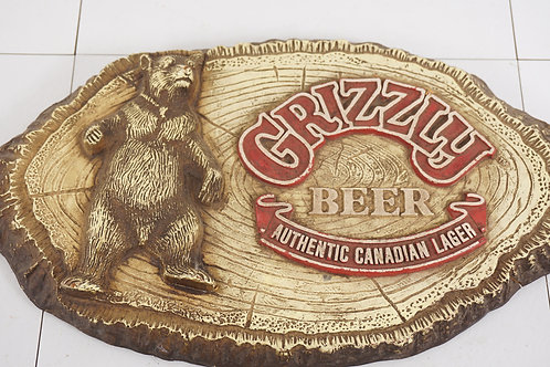 Advertising Grizzly Beer Sign - Authentic Canadian Beer