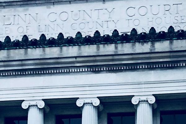 Linn County Courthouse Facade Cedar Rapids