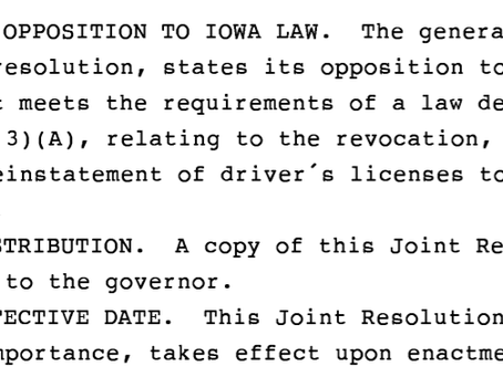 Iowa votes to end driver's license revocation for most drug cases