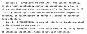 Legislative text