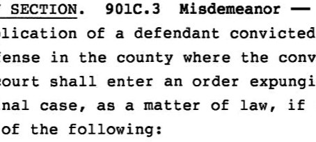 Cedar Rapids Criminal Lawyer explains: Iowa now approves expungements