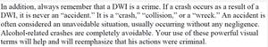 NHTSA OWI prosecution training manual excerpt