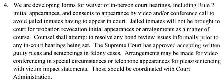 Judge Grady Emergency Order Excerpt