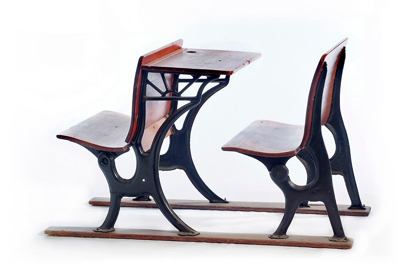 Double School desk שולחן  וכסא כיתה כפול