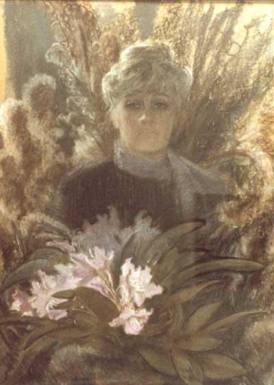 Васнецова Е.Ю. Автопортрет. 1986. 100х73