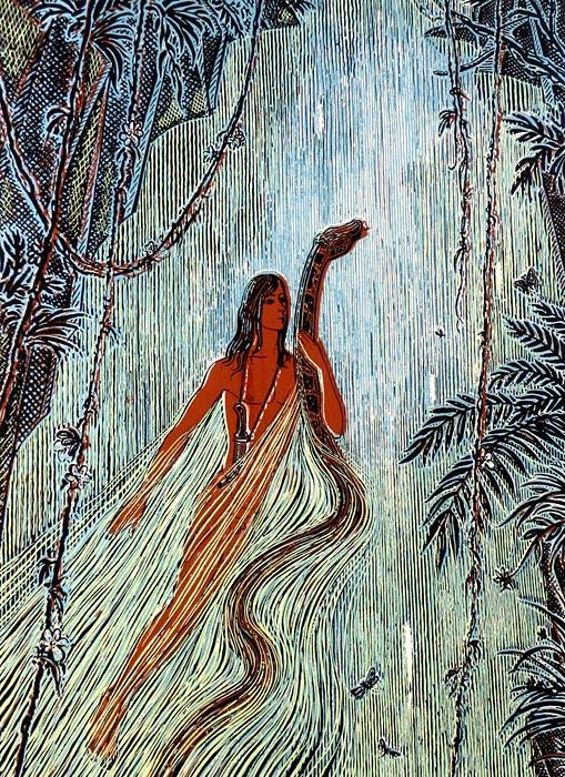 Маугли с удавом