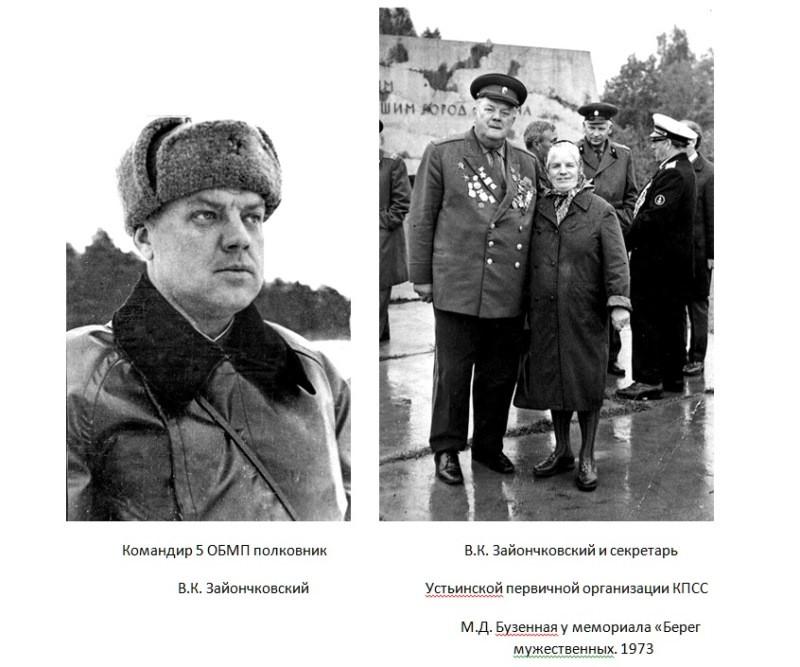В.К.Зайончковский и М.Д.Бузенная