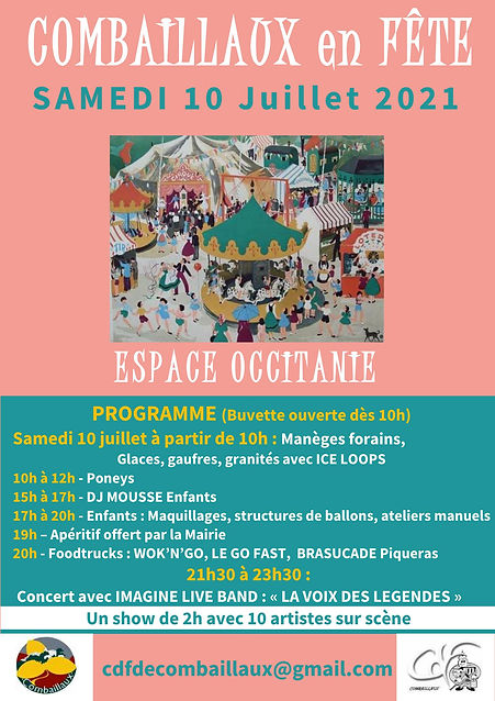 2021-07-10 - Affiche Fête de Combaillaux
