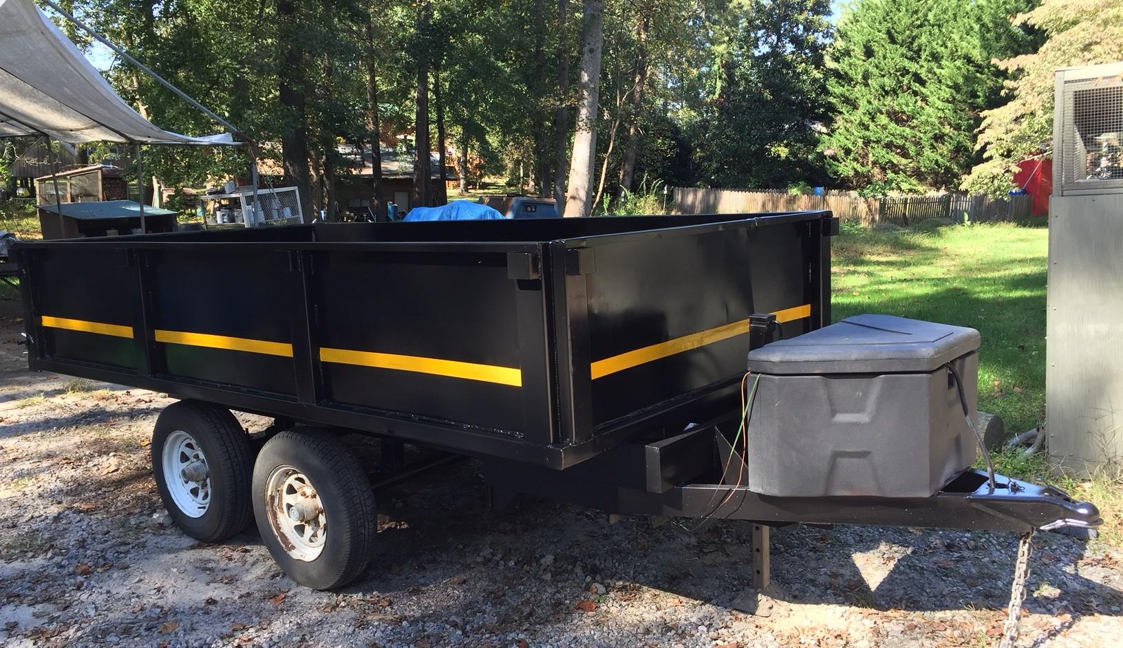 Sanblasting trailer