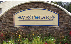 West Lake Sandblasted Sign
