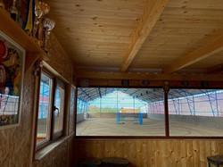 Indoor riding arena viewing