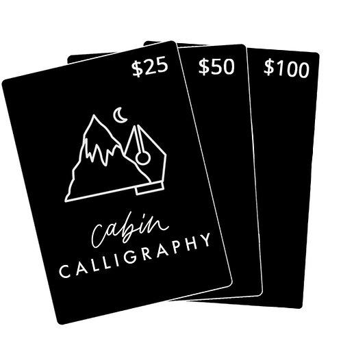 Cabin Gift Card