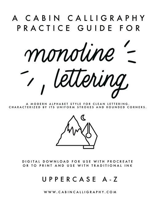 Monoline Practice Workbook - Uppercase