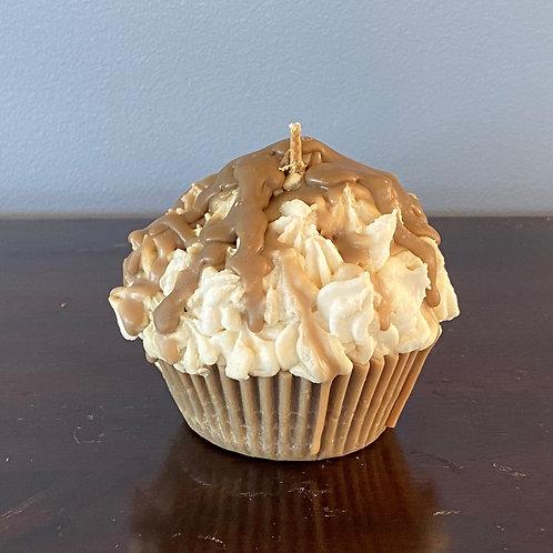 Muffin Candle - Chocolate Fudge w/ Caramel & Banana Split Frosting