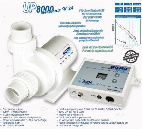AquaBee 24Volt UP8.000 l / h 5-50Watt hmax: 4.0m