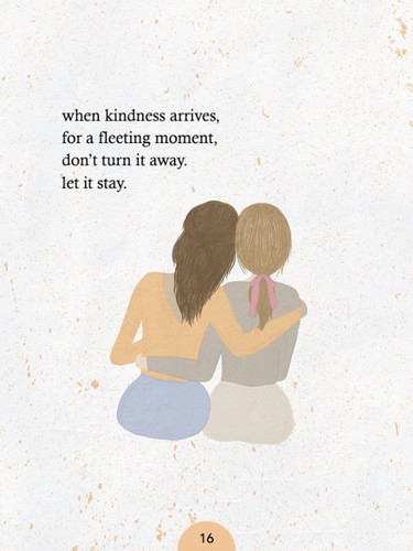 2 friends hugging each other - poetry book illustration by Neira Pekmez