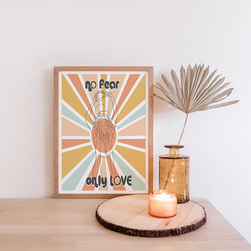 No Fear Only Love Art Print | Stevie Nicks Wall Art | Gypsy Song Lyrics Poster