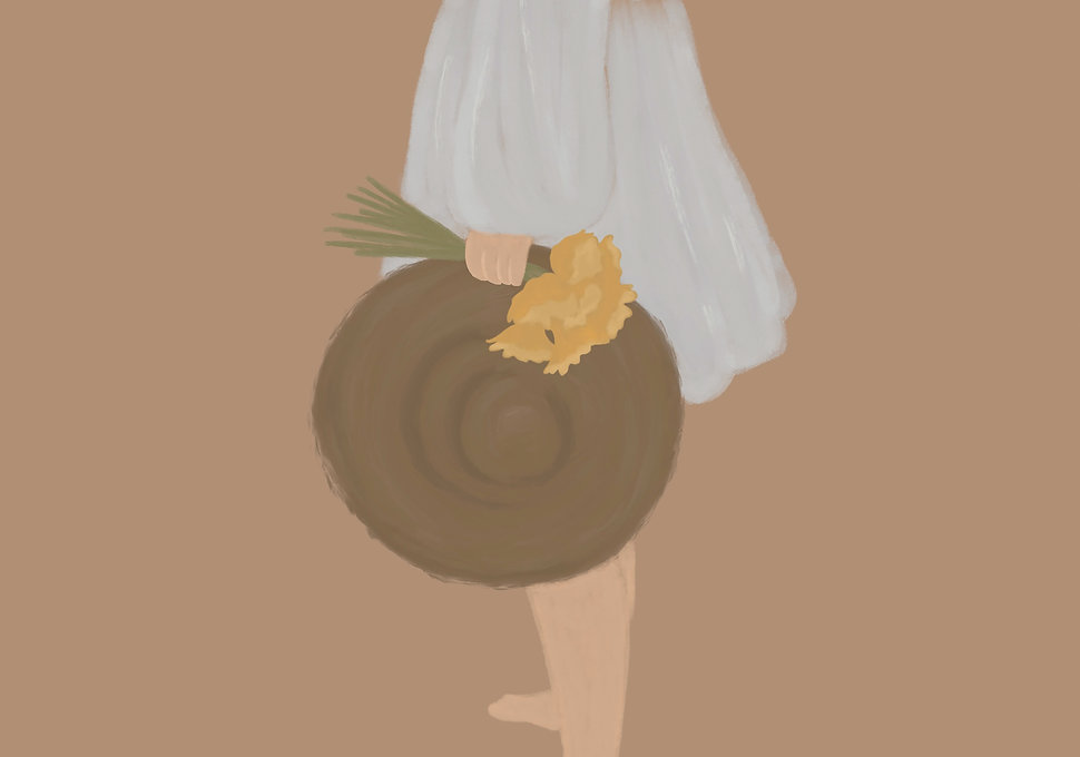 Girl In White Dress Boho Art