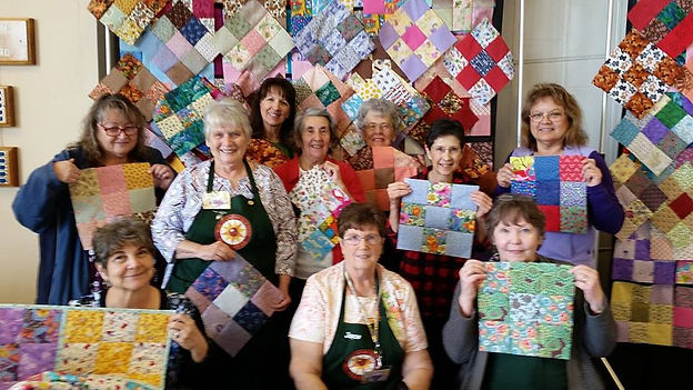 community service photo from Quilt show.