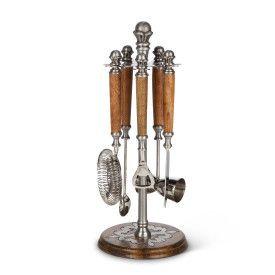 Wood/Metal Bar tool Stand