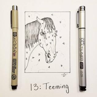 Inktober Day 13: Teeming
