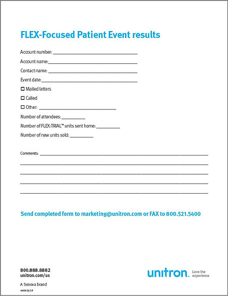 Patient Event Results Form