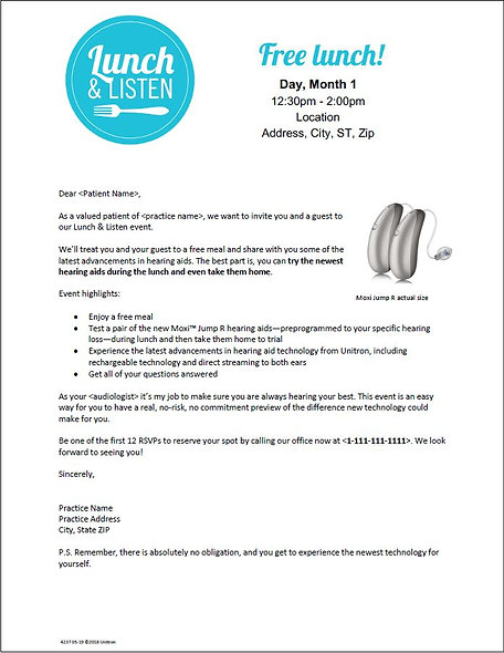 Lunch & Listen Letter