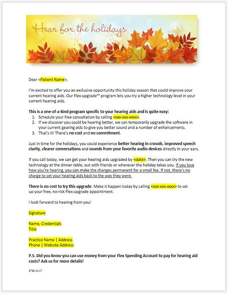 Thanksgiving Letter - FLEX:UPGRADE