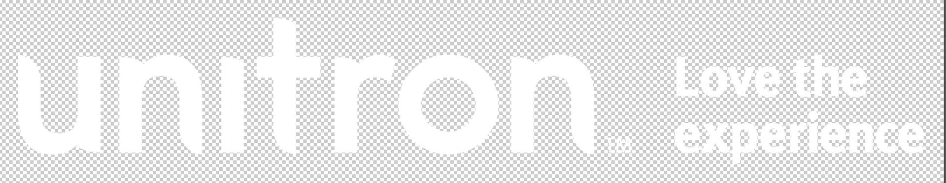 Unitron with tagline - White PNG