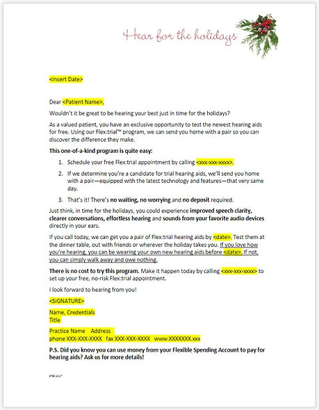 Winter Holiday Letter - FLEX:TRIAL