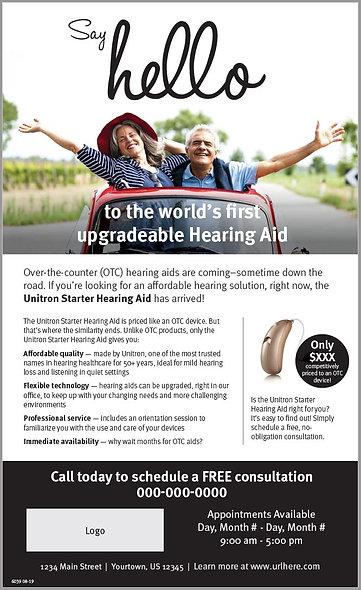 Starter Hearing Aid Newspaper Ad