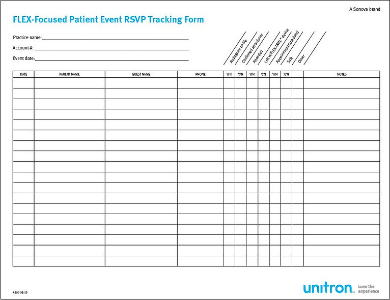 Patient Event Tracking Form