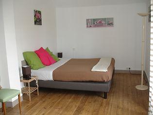 Chambre chaleureuse 1 lit double