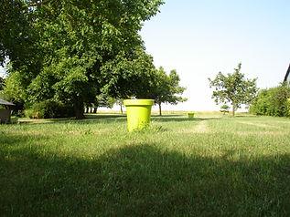 jardin avec vue les champs de Beauce