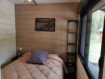 Chambre 1 Grand lit avec vue sur la nature