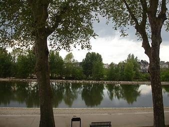 Vue de la loggia sur les bords de Loire Orléans