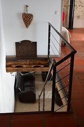 Escalier métallique et décoration